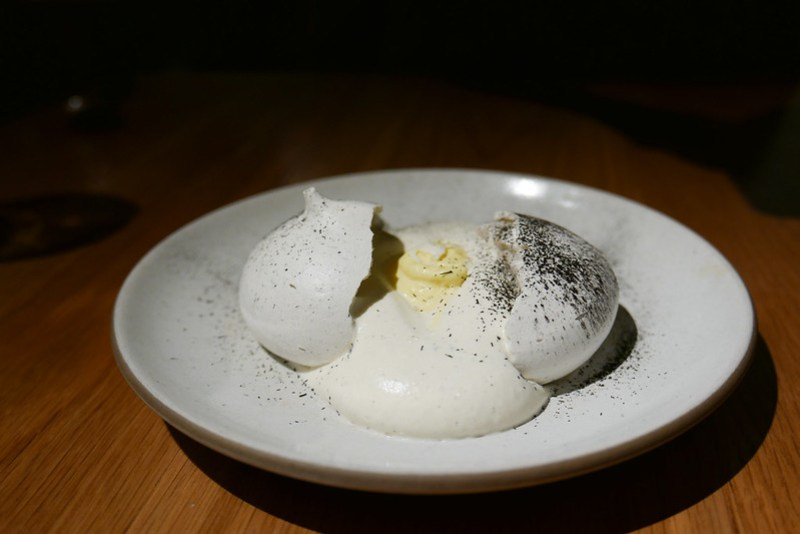 Husk Meringue, Corn Mousse ($16)