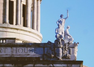 Figures of justice, Bergen County Courthouse