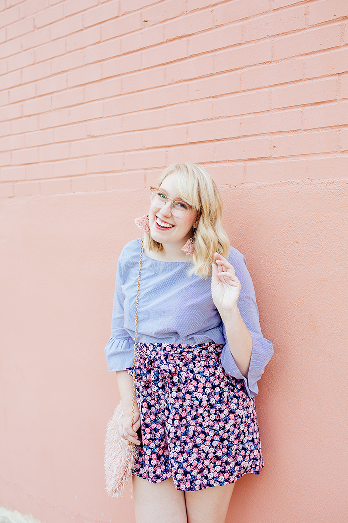 austin fashion blogger writes like a girl bell sleeves floral shorts19