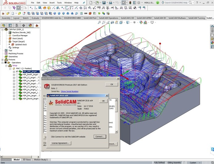 lập trình gia công với phần mềm solidcam 2016 trên solidworks