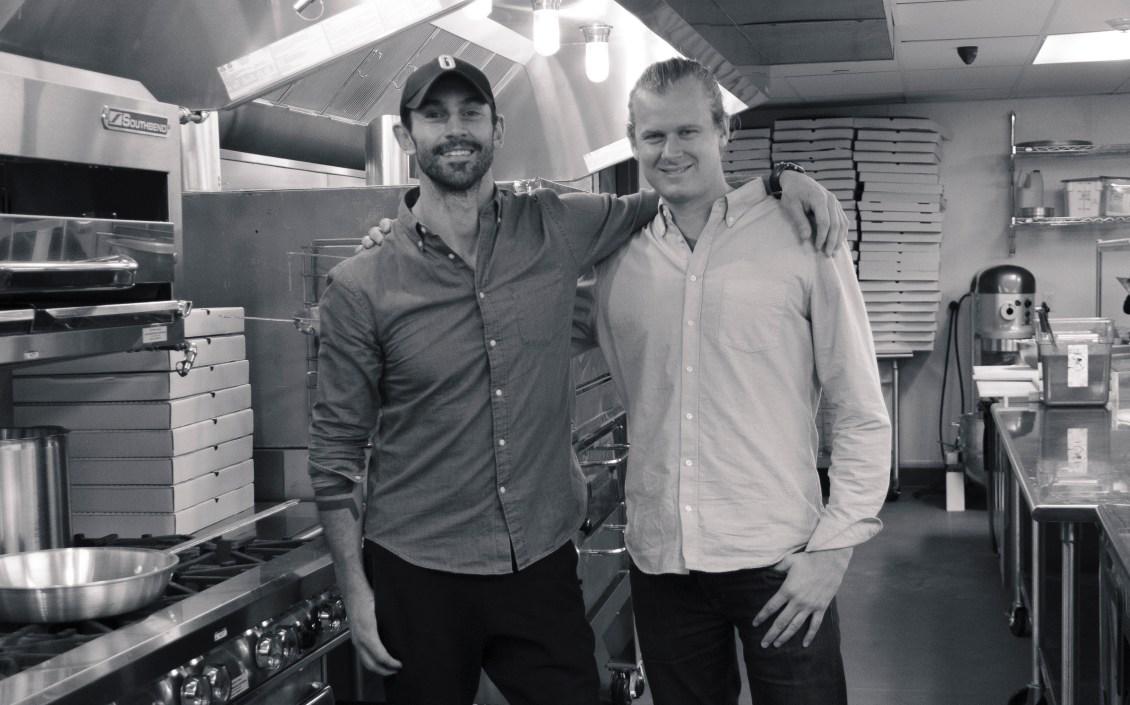 GU founders in kitchen bw