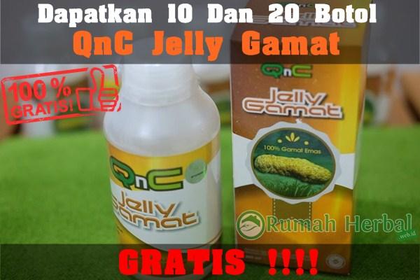 Cara Mendapatkan 10 Dan 20 Botol QnC Jelly Gamat Secara Gratis