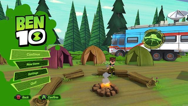 Ben 10 Video Game_menu