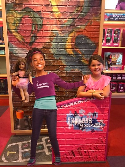 in the american girl store