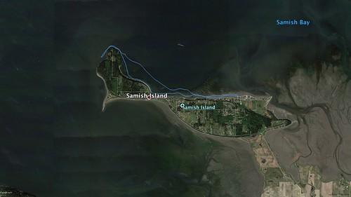 Samish Island Paddling Route