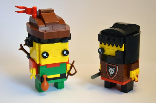 Forestman and Wolfpack Brickheadz