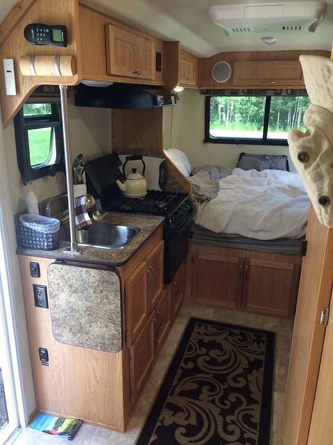 Escape Trailer Galley and bed