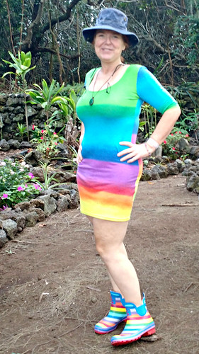 Rainbow dress thrift store find