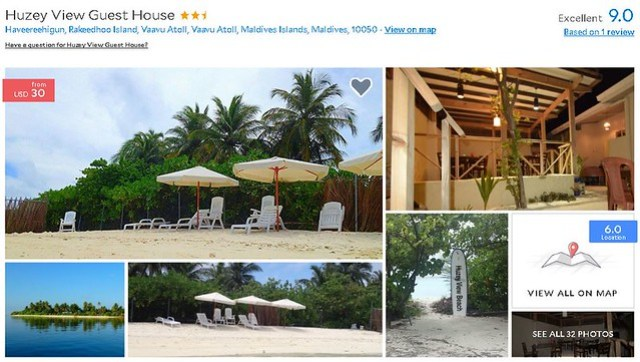 Huzey View Guest House - Maldives Cheap Accommodation