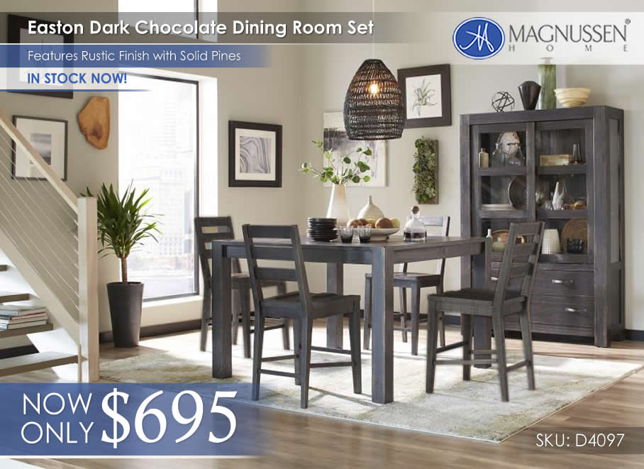Magnussen Easton Chocolate Dining D4097_in stock