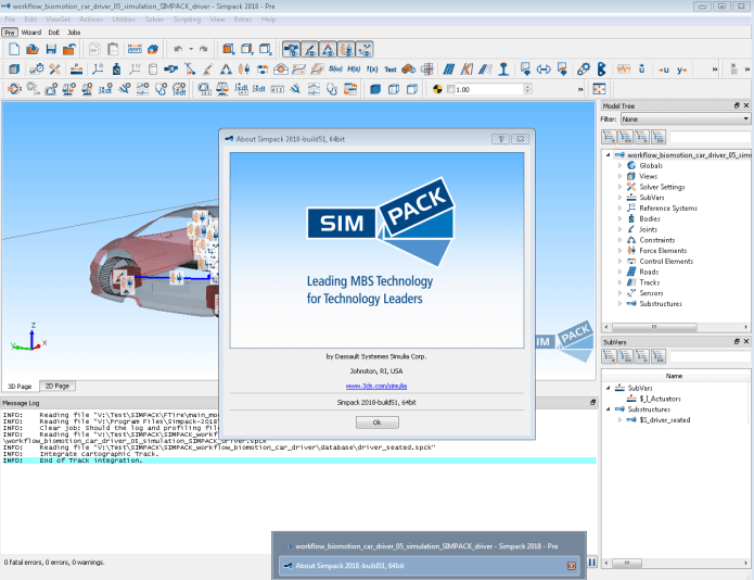 Working with Dassault Systemes SIMULIA Simpack 2018 x64 full crack