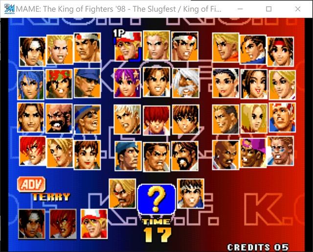 2017-08-17 21_26_51-MAME_ The King of Fighters '98 - The Slugfest _ King of Fighters '98 - dream mat