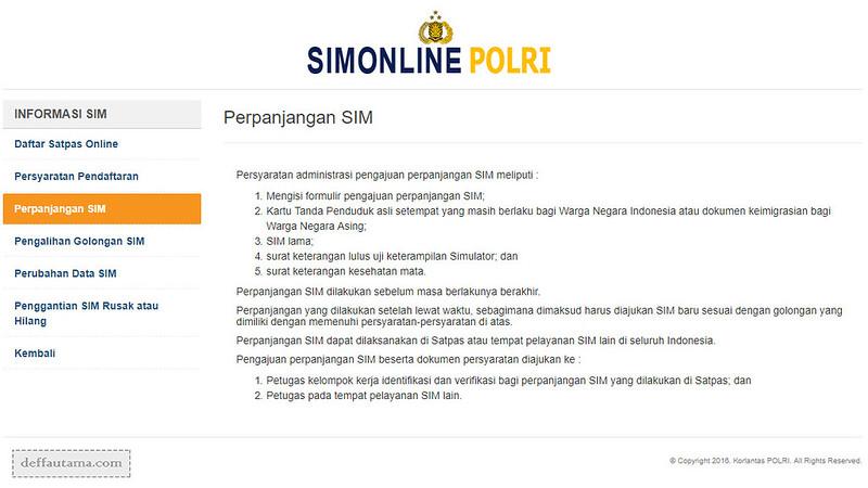 Informasi SIM Online