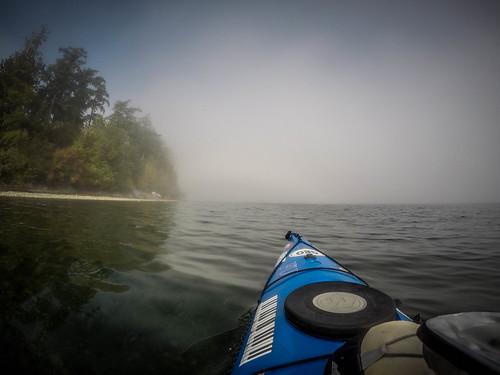 Samish Island Paddling in Fog-9