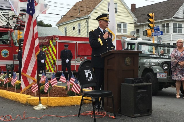 34th Inf. Div. Commander Re-Dedicates Intersection to Fallen Massachusetts WWII Red Bull