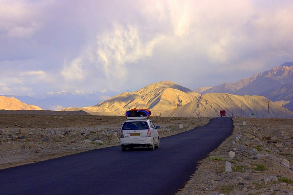 The Magnetic Hills near Leh is a must stop when reaching Ladakh by road
