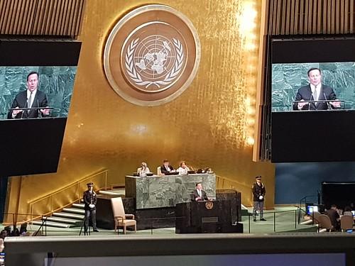 Participación del SG SICA, Vinicio Cerezo en sesión plenaria de Asamblea General de ONU