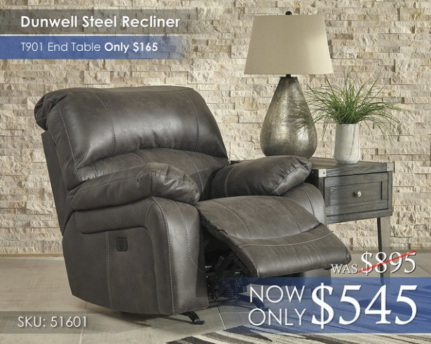 Dunwell Steel Recliner 51601-13-OPEN