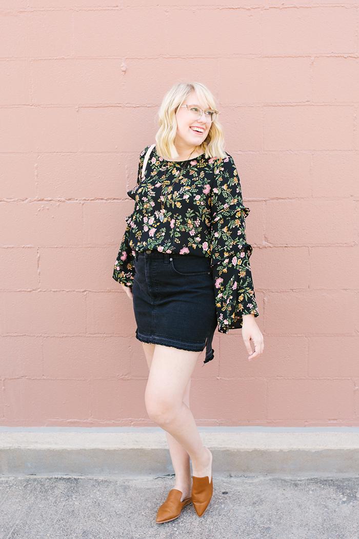 writes like a girl austin fashion blogger bell sleeves denim skirt10