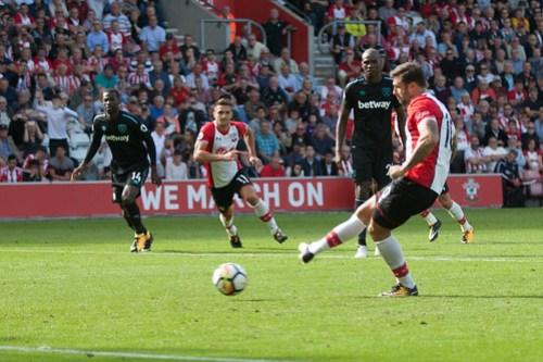 Southampton FC versus West Ham