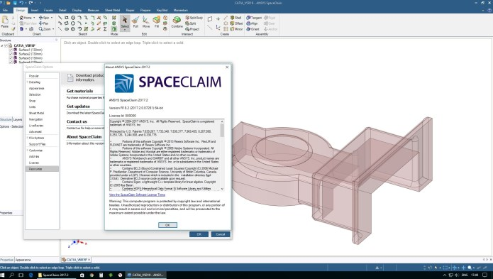 Working with ANSYS SpaceClaim Mechanical 2017.2 full license