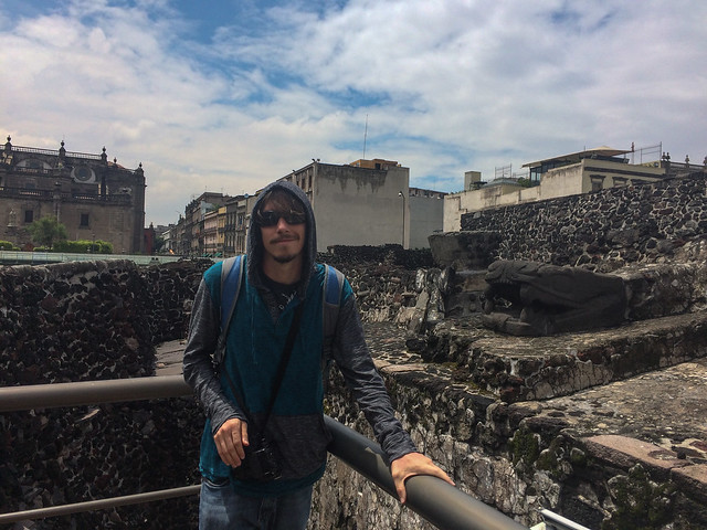 Kyle at Templo Mayor