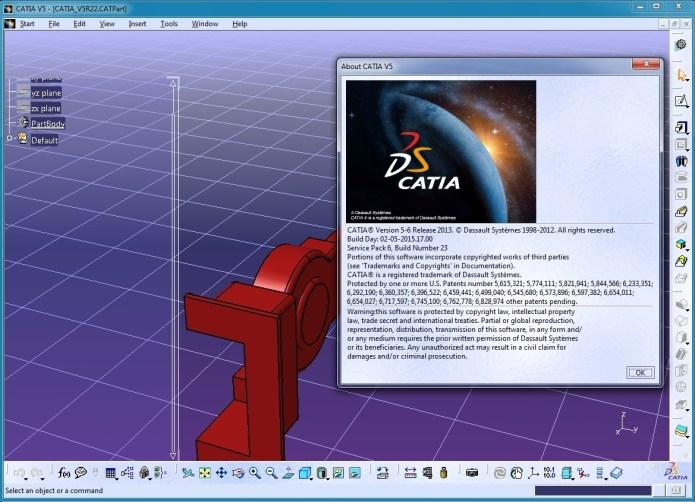 Thiết kế với Phần mềm catia V5 - 6 R2013 SP6 full crack