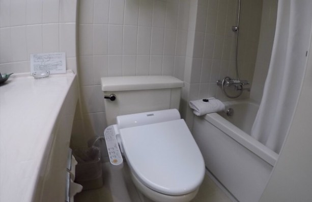 Toilet/Bathroom shot of Guam Reef and Olive Hotel