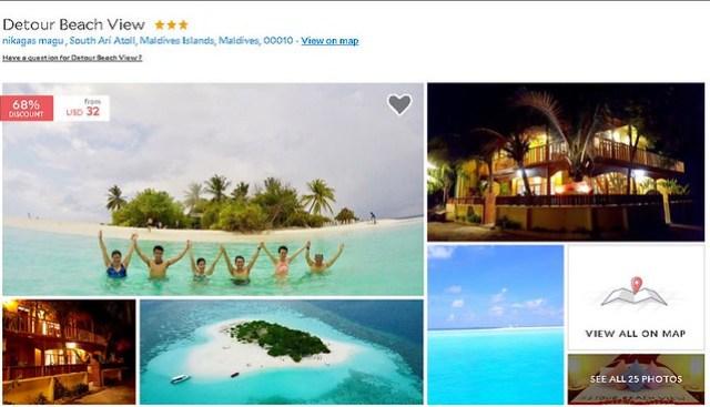 Detour Beach View - Maldives Cheap Accommodation