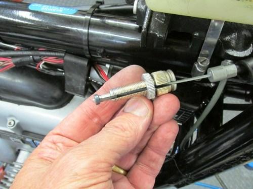 Master Cylinder Front Brake Cable Adjuster Assembled
