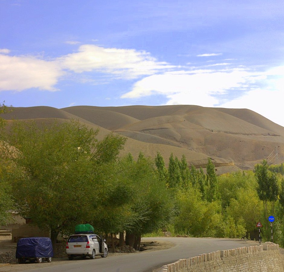 It takes two days to reach Ladakh by road from Srinagar