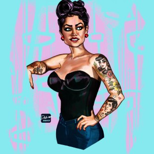 Rockabilly Pin-Up Girl
