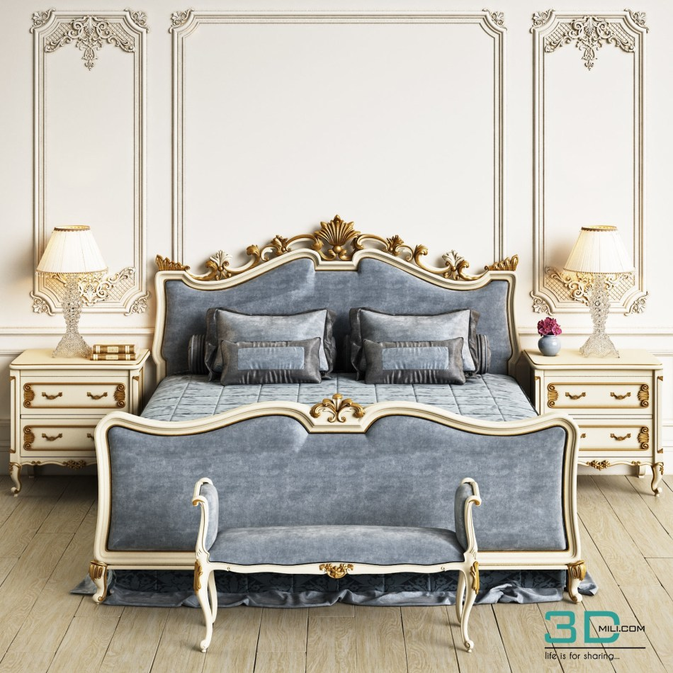 Angelo Cappellini Wagner Bed 3d Mili Download 3d Model