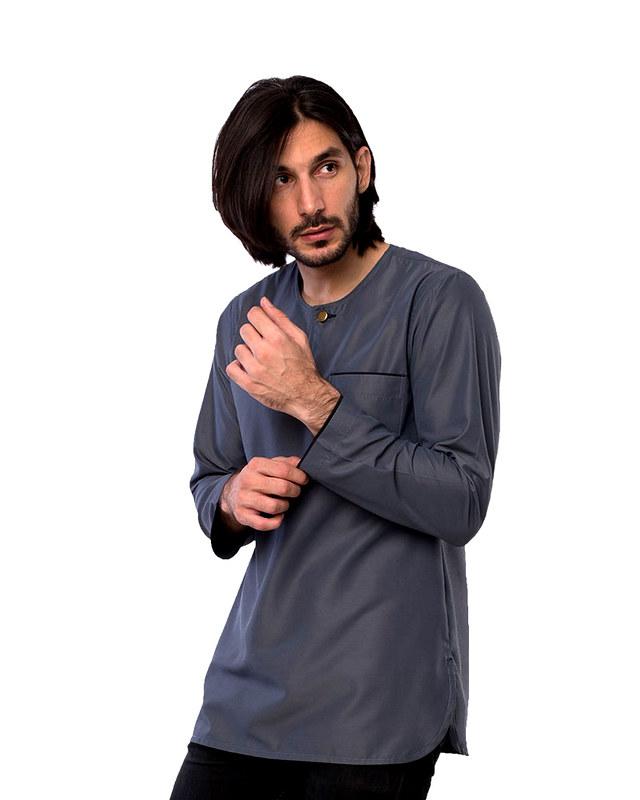 kurta-teluk-belanga-executive-grey-pose
