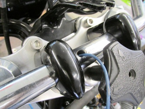 Inserting Pull Wire Through Center Hole of Handlebar