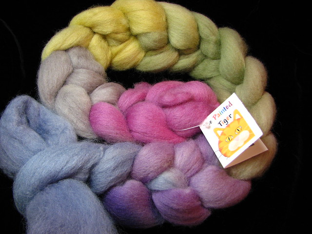 Fading Summer - August Tiger Club - Cheviot Wool Combed Top