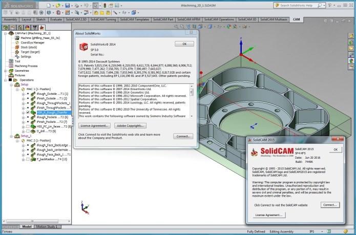 Lập trình gia công với solidcam 2015 SP4 for solidworks 2014