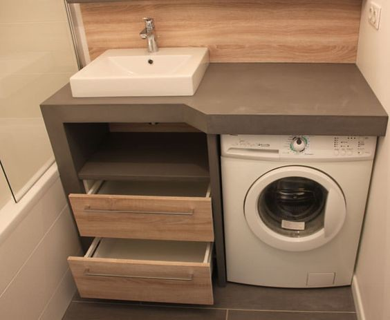 Small Bathrooms with Washing Machines - Ideas to Love on Small Space Small Bathroom Ideas With Washing Machine id=57812