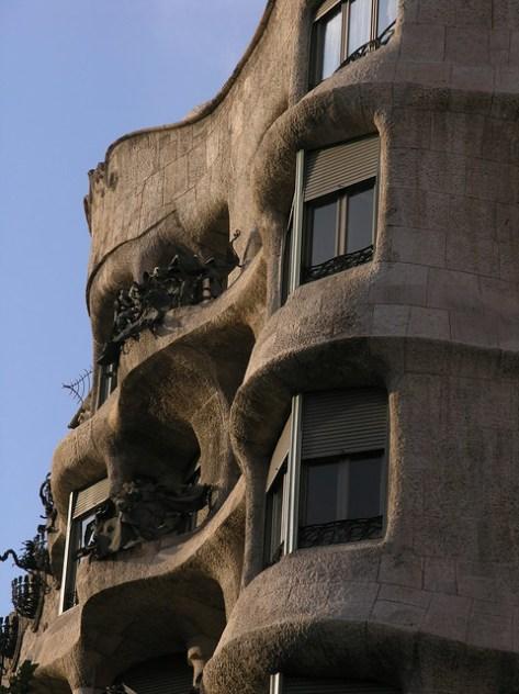 Barcelona Casa Milà ouside detail