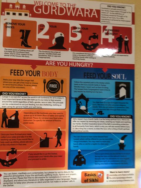 Gurdwara Sahib Instructional Poster