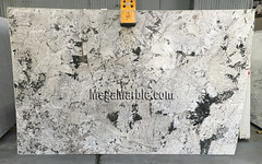 Alaska White Granite slabs for countertops 3cm