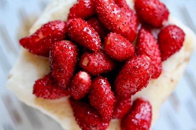 Wild Strawberry Ricotta Cheesecakes - 36