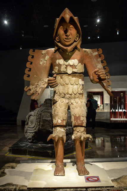 Huitzilopochtli statue recovered at Templo Mayor