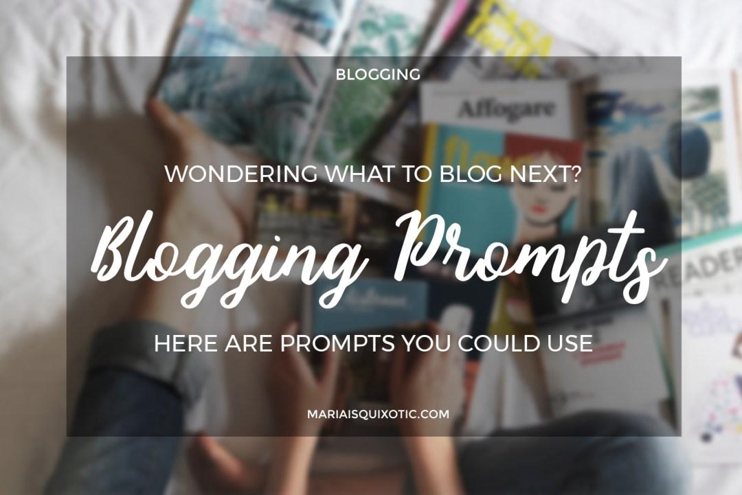 Blogging Prompts #1