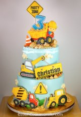 Construction themed cake ©Cookievonster2017
