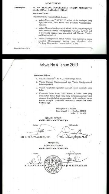Fatwa MUI No 4 Tahun 2010