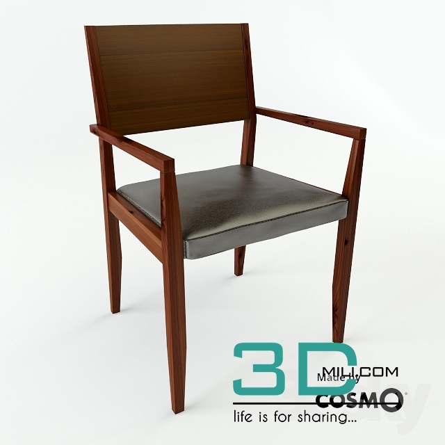 08 Leather Side Chair Maria Yee 3d Mili Download 3d