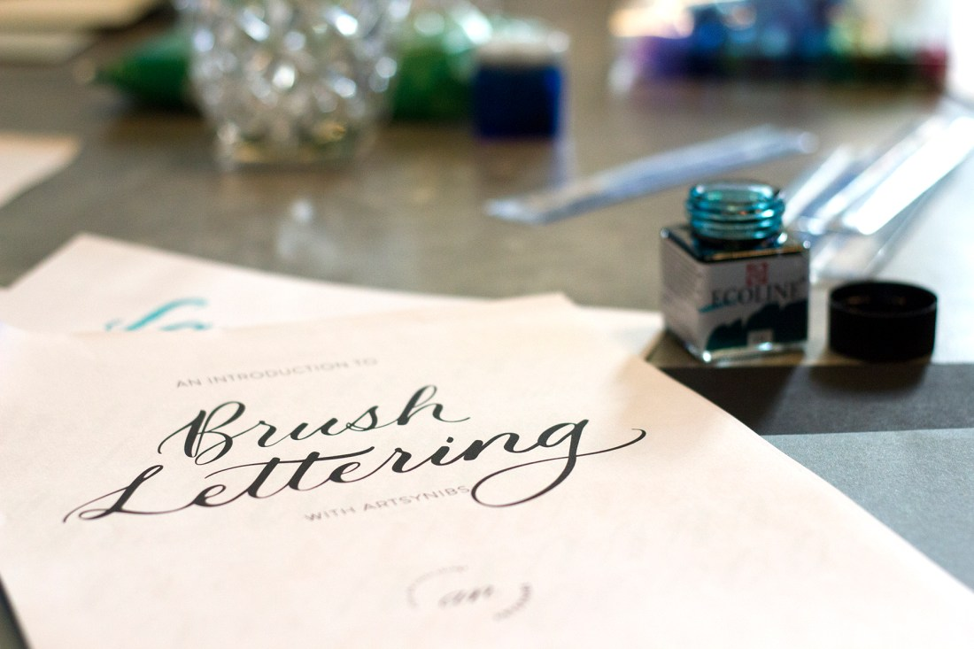 Intro to Brush Lettering Workshop with Artsynibs