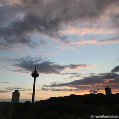 #sunset 19/8 #nofilter #visitkoeln #urbanCGN #cologne #thisiscologne #koelnergram #köln #ig_cologne #ig_germany #germany #guardiantravelsnaps #guardiancities #wanderlust #travel #koelnergram #instaköln #travelsde #sunsetlover #clouds #tower #colours #sky