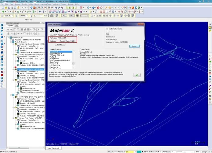 Phần mềm mastercam X7 MU2 full license